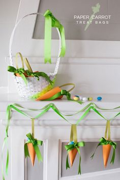 Paper Carrot Treat Bags DIY | Oh Happy Day!