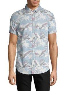 Superdry Short-sleeve Leaf-print Shirt In Hibiscus Superdry Shorts, Superdry Mens, Leaf Prints, Hibiscus, Printed Shirts, Short Sleeves, Men Casual, Mens Fashion, Mens Tops