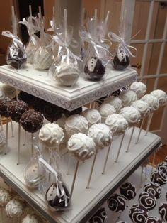 Bride & Groom Bridal Shower Cake Pops.