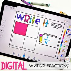 Digital Fractions Activities for Distance Learning and 1st Grade