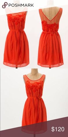 NWT Anthropologie Dress Gorgeous NWT Anthropologie Dress. As seen on Anna Kendrick in Drinking Buddies. This is a re-posh for me- absolutely stunning dress but just doesn't fit! Anthropologie Dresses Midi