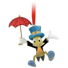 Disney Jiminy Cricket With Umbrella Christmas Ornament New With Special Disney Store Ornament Tag - GoodNReadyToGo Hallmark Christmas Ornaments, Disney Ornaments, Christmas Decorations, Tree Decorations, Jiminy Cricket, Disney Mickey, Walt Disney, Disney Nerd, Ideas