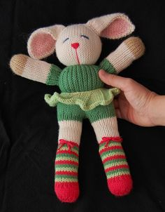 "Margaret the Bunny  - Free Knitting Pattern - PDF File - Click ""download"" or ""free Ravelry download"" here: http://www.ravelry.com/patterns/library/margaret-2#"