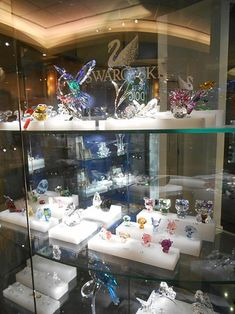 The Swarovski Crystal range includes crystal glass sculptures and miniatures, etc.