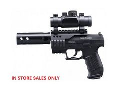 The Umarex Walther Nighthawk Black is an air pistol and a Gun. Walther Night Hawk - the new, ultimate pistol that proves itself with an unmistakable design. Air Rifle Hunting, Assault Weapon, Concept Weapons, Picatinny Rail, 2nd Amendment, Rifles, Firearms, Porn, Target