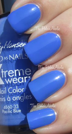 The PolishAholic-Sally Hansen Pacific Blue