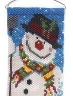The Snowman - Bead&Button Magazine free peyote