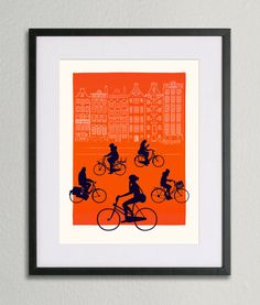Amsterdam 2014 Silkscreen by BenWhittington on Etsy, £10.00