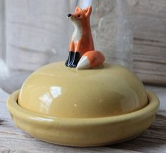 Too cute!  Custom Made Fox Mini Cheese Dish  4 to 6 Weeks for by tashamckelvey, $80.00