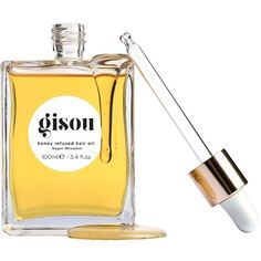 Gisou By Negin Mirsalehi Home Gisou Honey Infused Hair Oil ($97) ❤ liked on Polyvore featuring beauty products, haircare, makeup and yellow