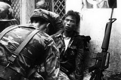 A young Vietnamese soldier being tended to after being injured in battle. Saigon (Vietnam), (Photo by Angelo Cozzi/Mondadori via Getty Images) Vietnam History, Vietnam War Photos, Saigon Vietnam, South Vietnam, Home Defense, American War, Vietnam Veterans, The Republic, Cold War