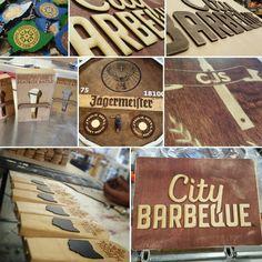 Custom product production.  #transformationalcraftsmanship #Griffenhollowstudio #custom #ecofriendly #asseenincolumbus #shopifypicks #signs #barbeque #nursery #awards #keychains www.griffenhollowstudio.com