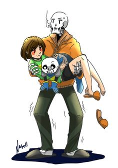 sans papyrus and chara underswap