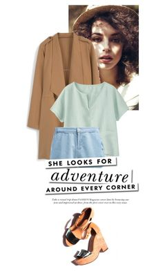 """""""She Looks For Adventure"""" by na-designs ❤ liked on Polyvore featuring MANGO, Toast, Lee and Kate Spade"""