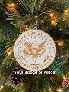S Marshal Police Badge Ornament Police Officer Gifts, Police Gifts, Great Christmas Gifts, Christmas Ornaments, Us Marshals, Police Patches, Gifts For Office, Retirement Gifts, How To Make Ornaments