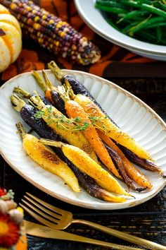 These Maple and Miso Glazed Roasted Carrots have a slightly sweet, caramel-like flavor and it's packed with umami! When dressed over your favorite roasted vegetables like carrots, it makes the tastiest side that everyone raves about. #roastedcarrot #miso | Easy Japanese Recipes at JustOneCookbook.com Glazed Carrots, Roasted Carrots, Roasted Vegetables, Veggies, Easy Japanese Recipes, Japanese Food, Asian Recipes, Asian Foods, Japanese Style