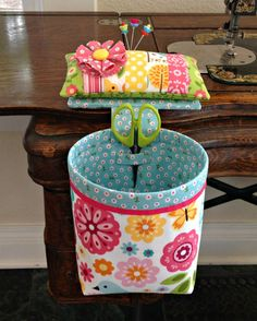 Handmade Sew In Style Thread Catcher with by Curry Bungalow on Etsy <3 #pincushion