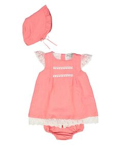 This Pink Angel-Sleeve Dress Set - Infant by Harry