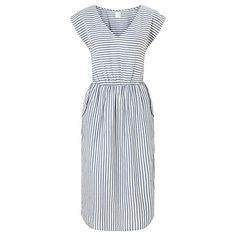 Buy Des Petits Hauts Elmita Stripe Dress, Blue/White Online at johnlewis.com