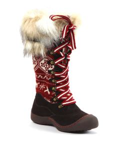 Brown Gwen X Fair Isle Snow Boot - Women   Daily deals for moms, babies and kids