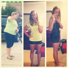 Great work girl From 235lbs - down to 155... 80 lbs lost! keep it up