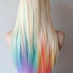 50 Stunningly Styled Unicorn Hair Color Ideas to Stand Out from the Crowd Boring hair days are for boring hair. Once you hop onboard the [. Pastel Highlights, Rainbow Hair Highlights, Unicorn Hair Color, Coloured Hair, Dye My Hair, Mermaid Hair, Ombre Hair, Gray Hair, Lilac Hair