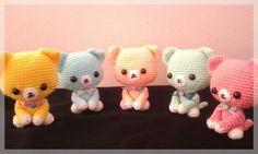 A gang of 5 kitten amigurumi,  free shipping.  http://www.etsy.com/listing/110922444/free-shipping-amigurumi-kitten-set-of-5