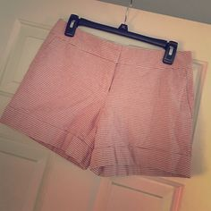 "The Limited: Outback Red Stripe Shorts Summer shorts coming your way!  good condition, cotton, red/beige striped shorts. 5"" inseam. The Limited Shorts"