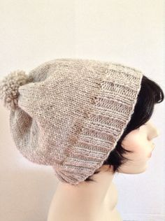 A personal favorite from my Etsy shop https://www.etsy.com/listing/255995635/slouchy-beanie-hatadult-size-natural-lt