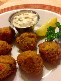 37 Cooks Conch Fritters with Creamy Cilantro Dipping Sauce