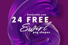 3D Swirls - Free Shapes - Dealjumbo.com — Discounted design bundles with extended license! Free Shapes, Free Graphics, Design Bundles, Free Stock Photos, Swirls, Clip Art, Neon Signs, Creative, Commercial