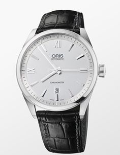 Oris Artix Chronometer    This handsome dress watch blends understated elegance with a minimalist design. The automatic watch is a classic three-hand model with date that comes in a 42mm stainless steel case and features an uncluttered silver-tone dial. A black alligator strap provides the finishing touch. Price: $2,175