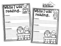 First Grade Blue Skies: Close Reading in Elementary School Book Study Ch 3 {FREEBIE}