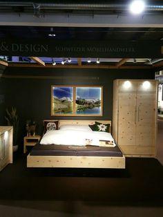 NATUR & DESIGN  Arvenmöbel Massivholzmöbel Innenausbau Innenarchitektur Altholzmöbel & Arvenmöbel-Ausstellung in der Bauarena Volketswil