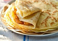 I love Crepes! - Gluten Free Crepes With Honey Lavender Roasted Persimmons Gf Recipes, Gluten Free Recipes, Cooking Recipes, Crepe Recipes, Cooking Tips, Gluten Free Sweets, Gluten Free Cooking, Sem Gluten Sem Lactose, Breakfast Desayunos