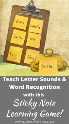 Literacy Activity: Letter Sounds & Word Recognition