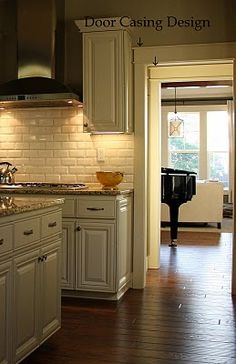 cabinets, back splash, and counter tops