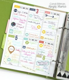 Created by design team member Candi Billman using our Life Documented Planner