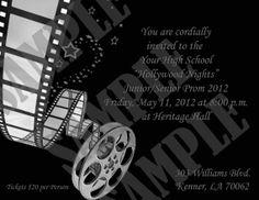 Hollywood Nights Prom/Homecoming Invitation by InvitasticInvites, $10.00