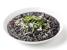 Black Rice Risotto recipe from Ellie Krieger via Food Network