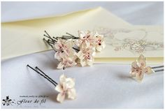 Handmade Hairpin  Pearl Love Flowers Hairpin