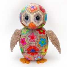 Aloysius the African Flower Owlet Crochet Pattern by heidibears