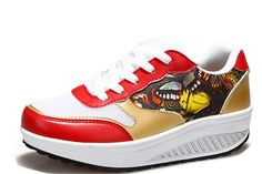 Women's Casual Muffin Thick bottom Height-increasing Fitness Rocking Creepers Sneaker Running Shoes -- You can find out more details at the link of the image.