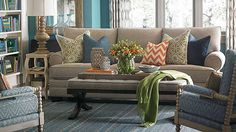 October is custom furniture month at Bassett! Sofas, chairs, beds, ottomans, pillows