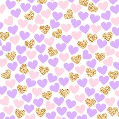 фоны, золото, сердечки
