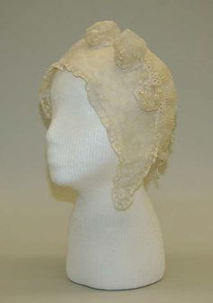 Cap, 1804–14, French, cotton. The Metropolitan Museum of Art.