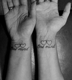 two hearts, one mind    mother daughter tattoo @Paula manc manc manc manc Stoehr Is this just us or what? love this