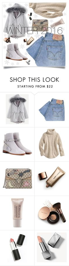 """Winter2016"" by alma994 ❤ liked on Polyvore featuring Levi's, Valentino, Gucci, Nude by Nature, Laura Mercier, Sigma and Burberry"