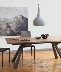 kasala - modern glass extension table - kitchen island, dining