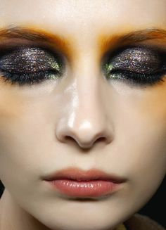 Black shadow all over the lid, topped with ELF's Mineral eyeshadow in Socialite